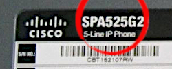 Cisco SPA Small Business series IP phone Headset key Location