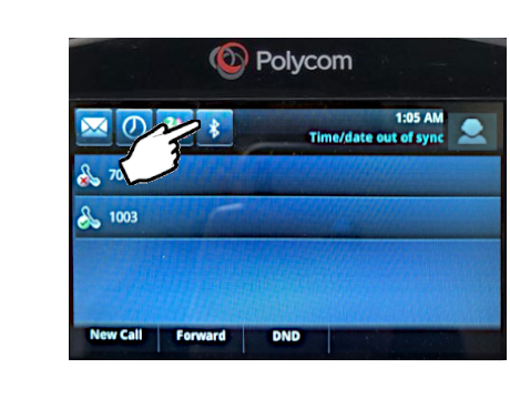 Polycom phone Bluetooth button