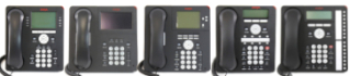 Avaya 1600 series and Avaya 9600 series deskphone images